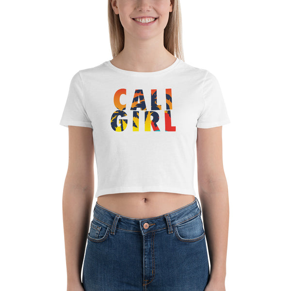 Cali Girl Sunset Women's Crop Tee