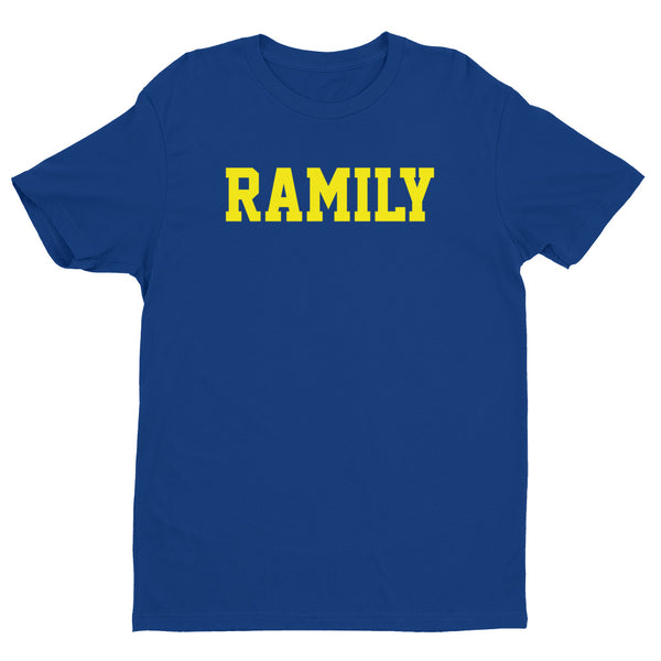 RAMILY Short Sleeve T-shirt with Yellow Print