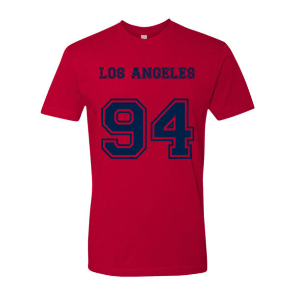 Los Angeles 94 (Navy print) - Short sleeve men's t-shirt