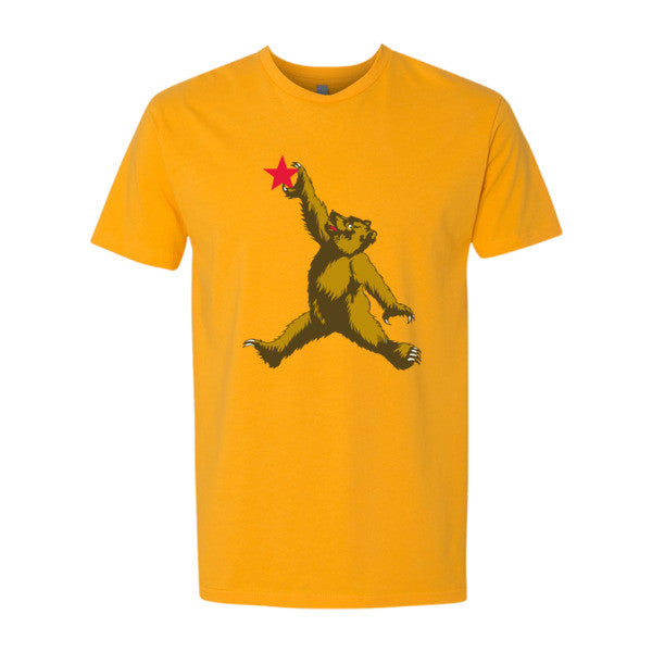 Cali Brown Bear short sleeve men's t-shirt