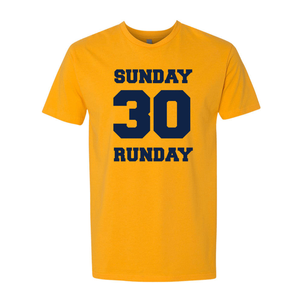Sunday Runday (navy print) short sleeve men's t-shirt