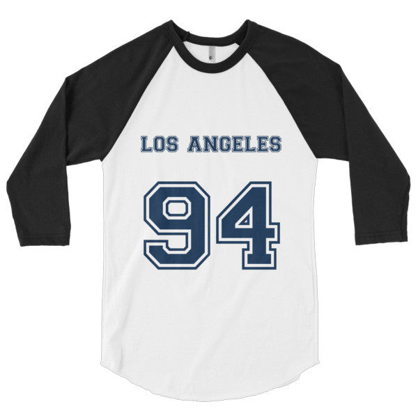 Los Angeles (Navy print) - 3/4 sleeve raglan shirt