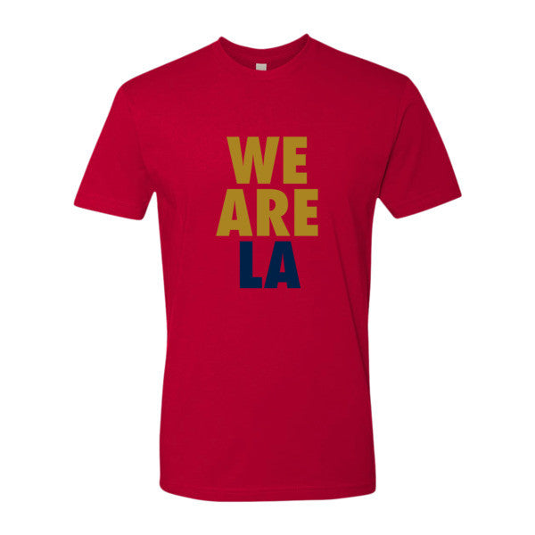 We Are LA (Gold + Navy Blue) short sleeve men's t-shirt