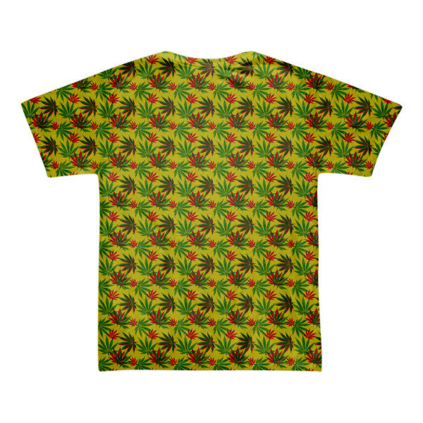 Green and sticky short sleeve all over print men's t-shirt (unisex)