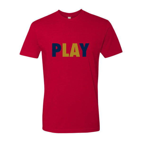 PLAY (Navy Blue + Gold) Short sleeve men's t-shirt