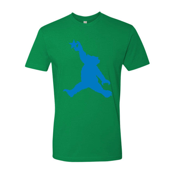 Cali Bear (blue) short sleeve men's t-shirt