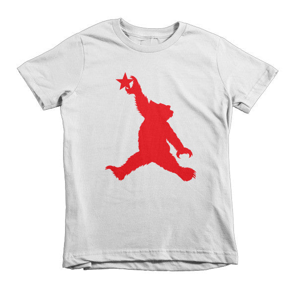 Cali Bear (red) short sleeve kids t-shirt