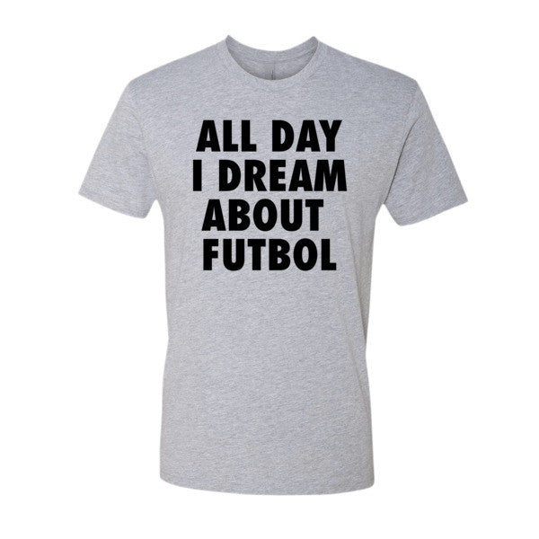 All Day I Dream About Futbol (Black print) - Short sleeve men's t-shirt