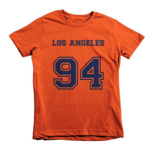 Los Angeles 94 (Navy print) - Short sleeve kids t-shirt