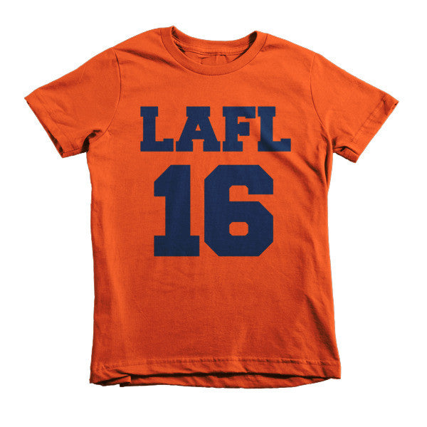 LAFL 16 (Navy print) short sleeve kids t-shirt