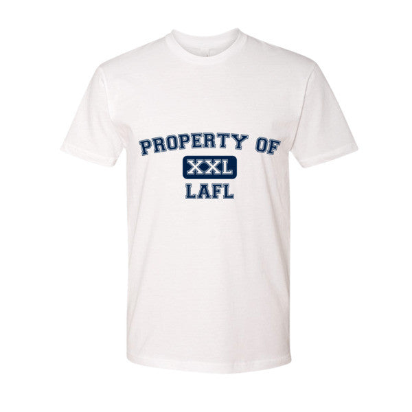 Property of LAFL XXL short sleeve men's t-shirt (Navy Blue print)