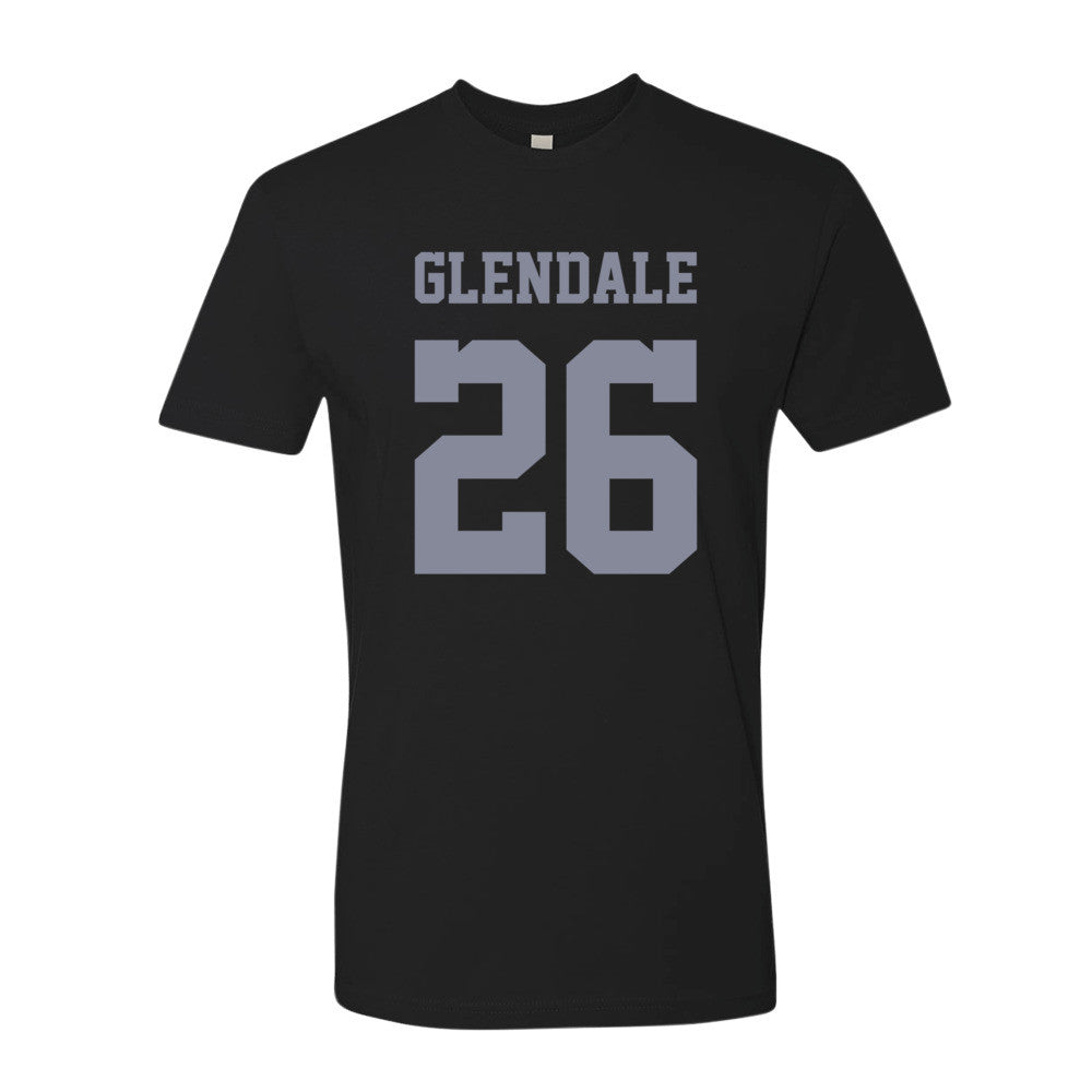 Glendale (gray print) short sleeve men's t-shirt
