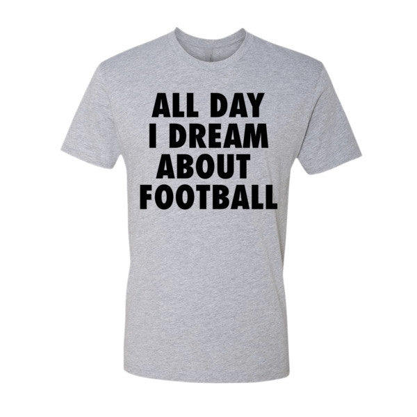 All Day I Dream About Football (Black print) - Short sleeve men's t-shirt