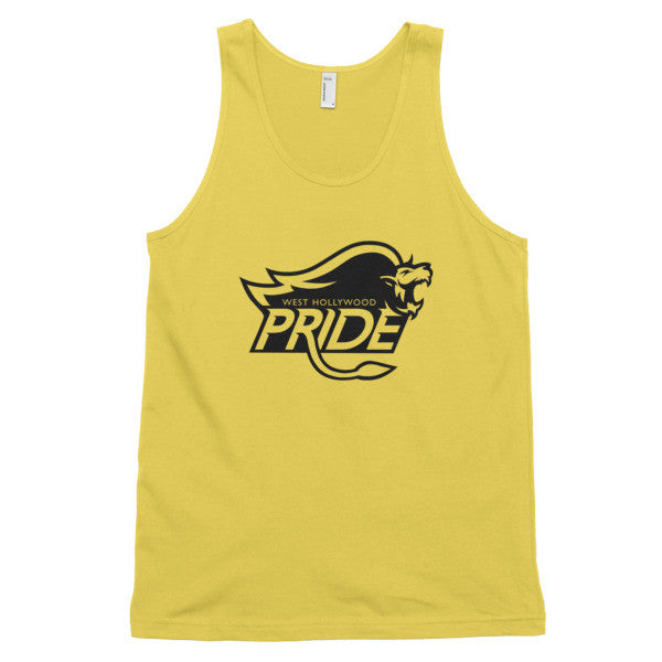 West Hollywood Pride (Black print) classic tank top (unisex)