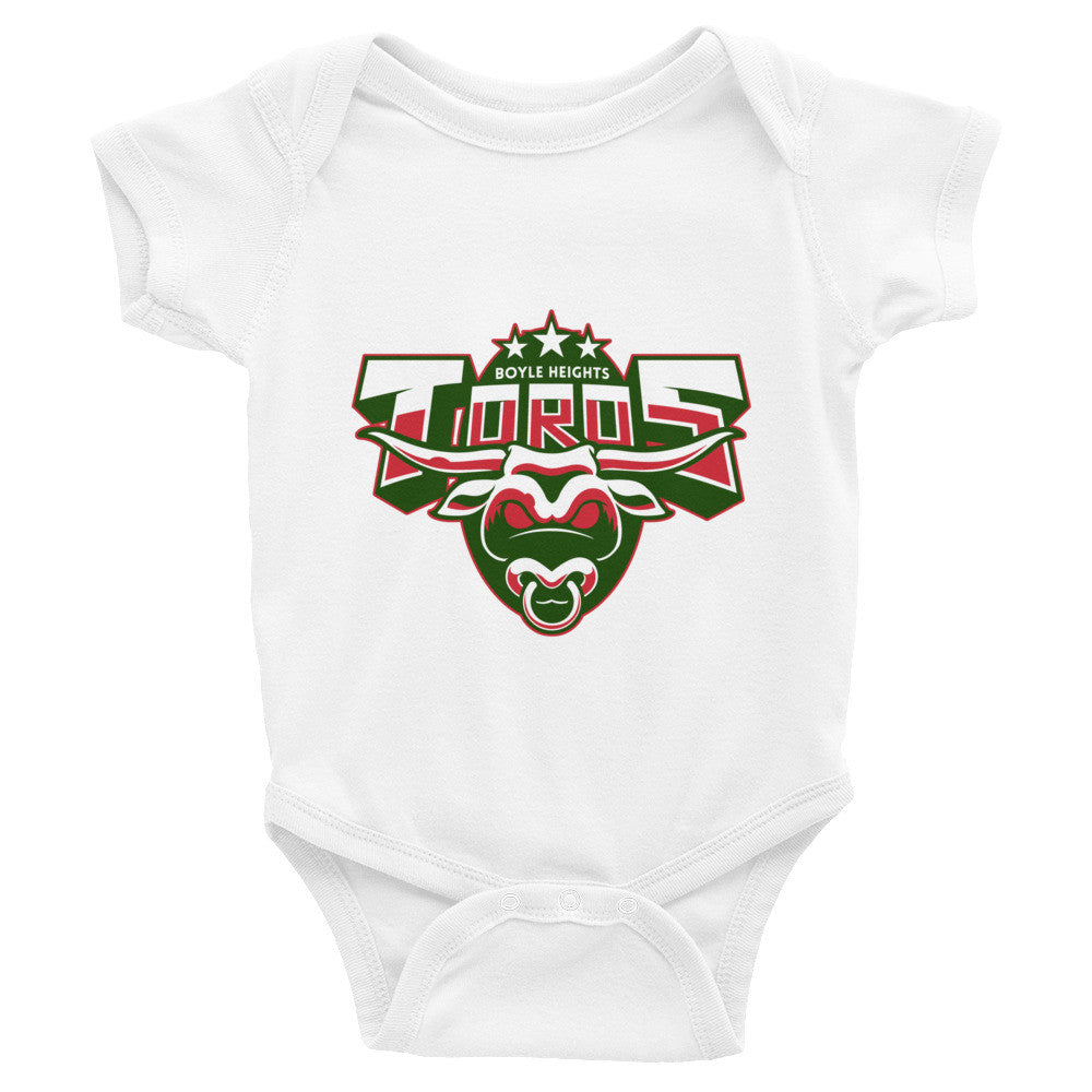 Boyle Heights Toros infant short sleeve one-piece