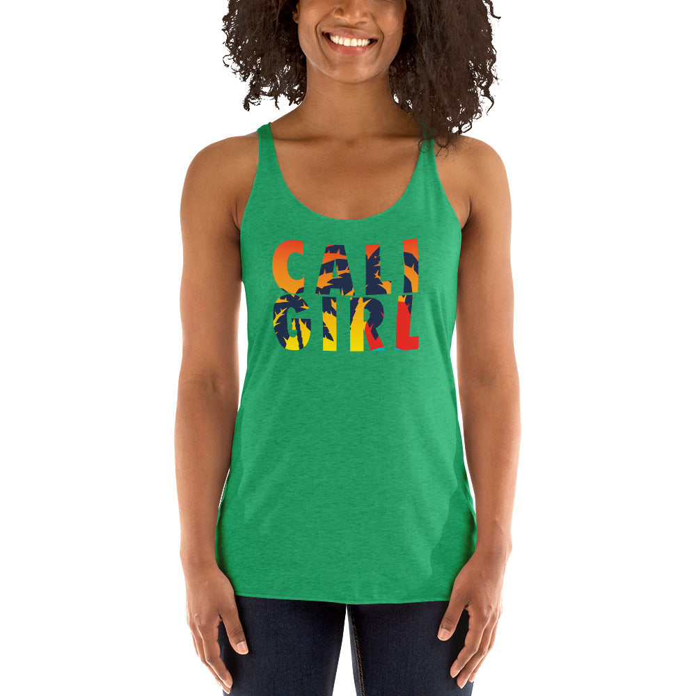 Cali Girl sunset Women's Racerback Tank