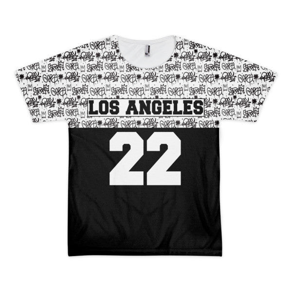 Los Angeles 22 scribble short sleeve men's t-shirt (unisex)