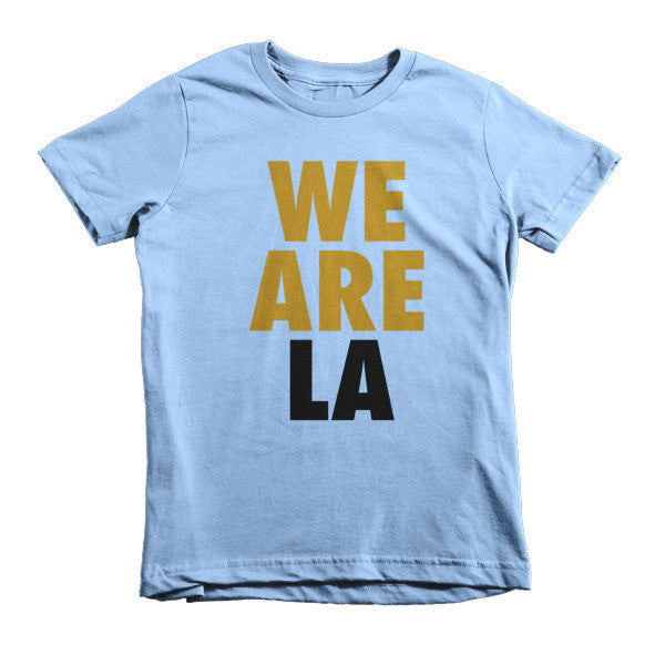 We Are LA (Gold + Black) short sleeve kids t-shirt