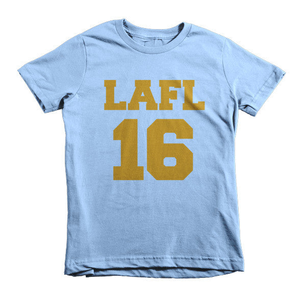 LAFL 16 (Gold print) short sleeve kids t-shirt