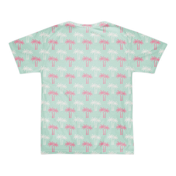 LA Palm Trees all over print short sleeve men's t-shirt (unisex)