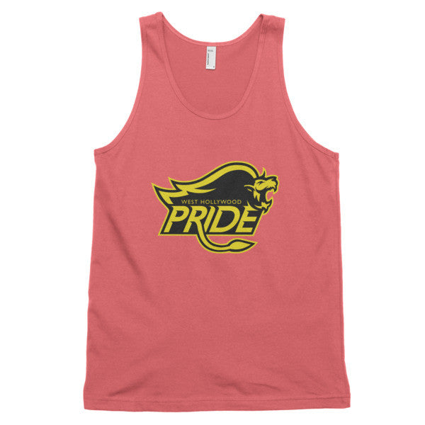 West Hollywood Pride (Black/yellow print) - classic tank top (unisex)