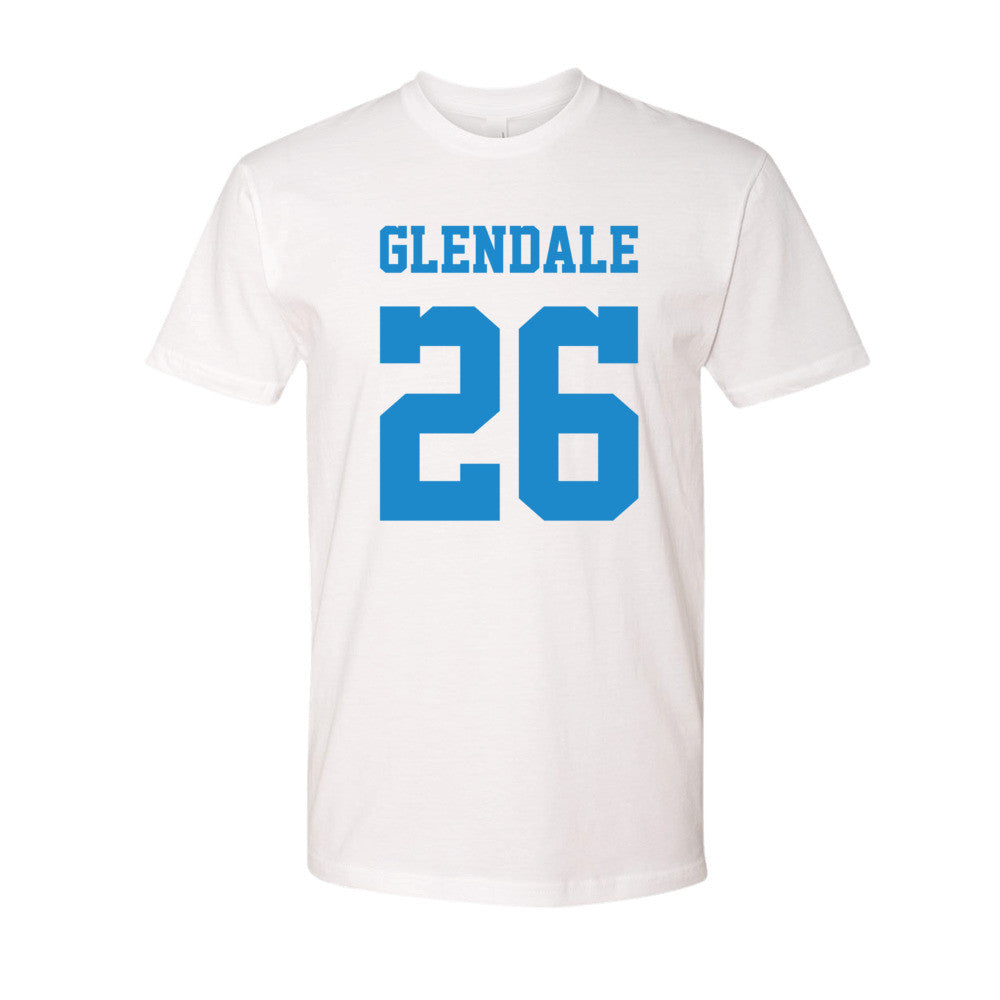 Glendale (blue print) short sleeve men's t-shirt
