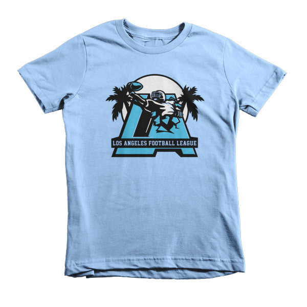LAFL Logo (Blue + Gray print) - Short sleeve kids t-shirt