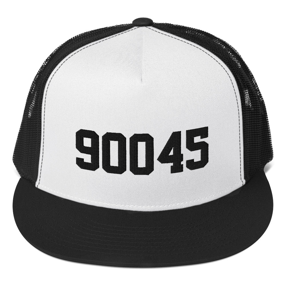 90045 Trucker Cap Black Embroidery