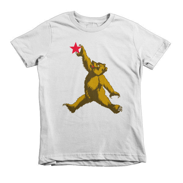 Cali Bear (brown) short sleeve kids t-shirt