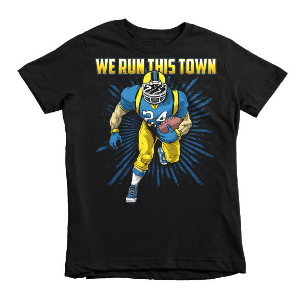 "Run this town ""juke"" hort sleeve kids t-shirt"