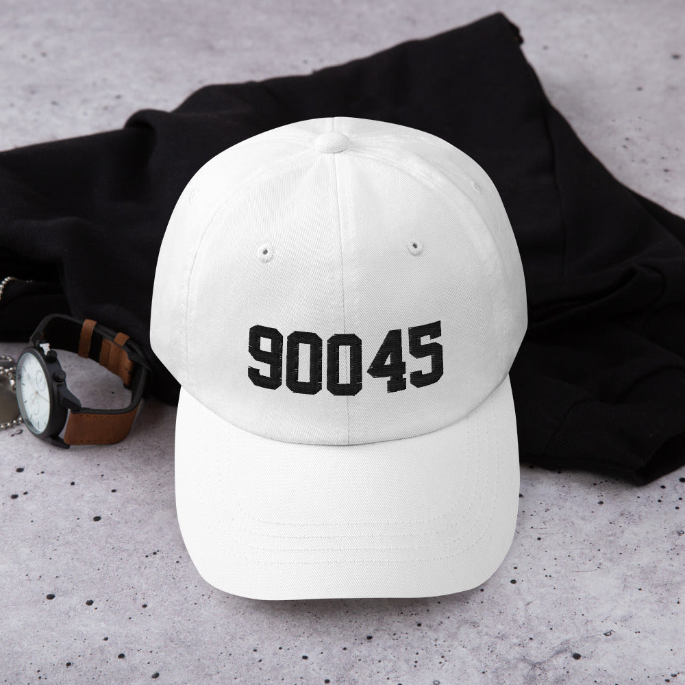 90045 Dad hat black embroidery