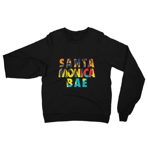 Santa Monica Bae Unisex California Fleece Raglan Sweatshirt