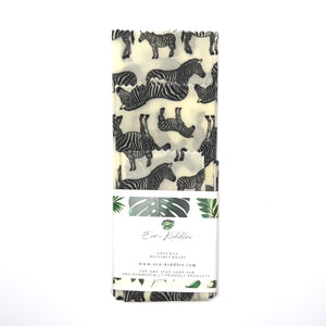 5-Piece Vegan Wax Wraps - Zebra - The Weekly Shop | Plastic Free Online Shop