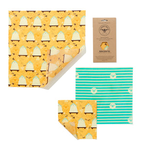 'Medium Kitchen Pack' Beeswax Wraps - Bee Hive - The Weekly Shop | Plastic Free Online Shop