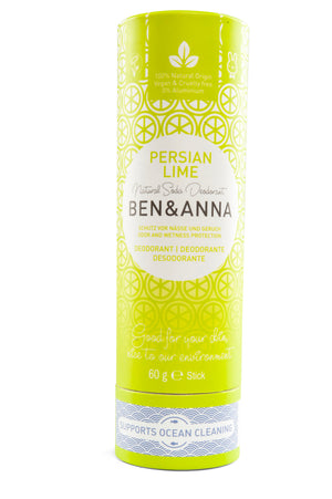 Natural Soda Deodorant - Persian Lime - The Weekly Shop | Plastic Free Online Shop