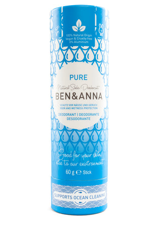 Ben and Anna Natural Soda Deodorant Pure Front View