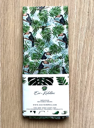 3-Piece Vegan Wax Wraps - Tropical Toucan - The Weekly Shop | Plastic Free Online Shop