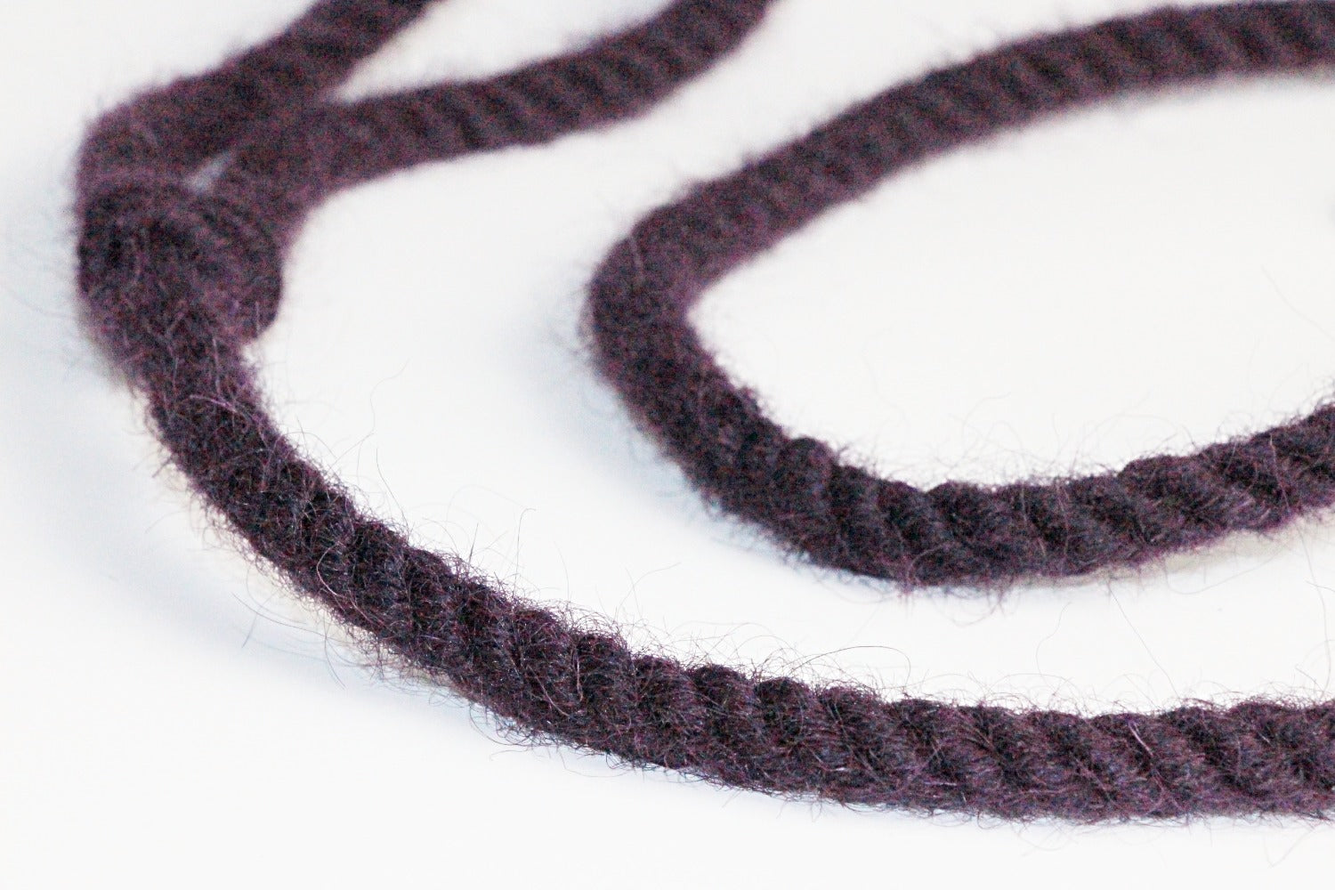 Twool purple plastic free dog lead close up