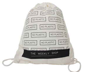 Heavy Shopper Cotton Drawstring Rucksack - The Weekly Shop | Plastic Free Online Shop