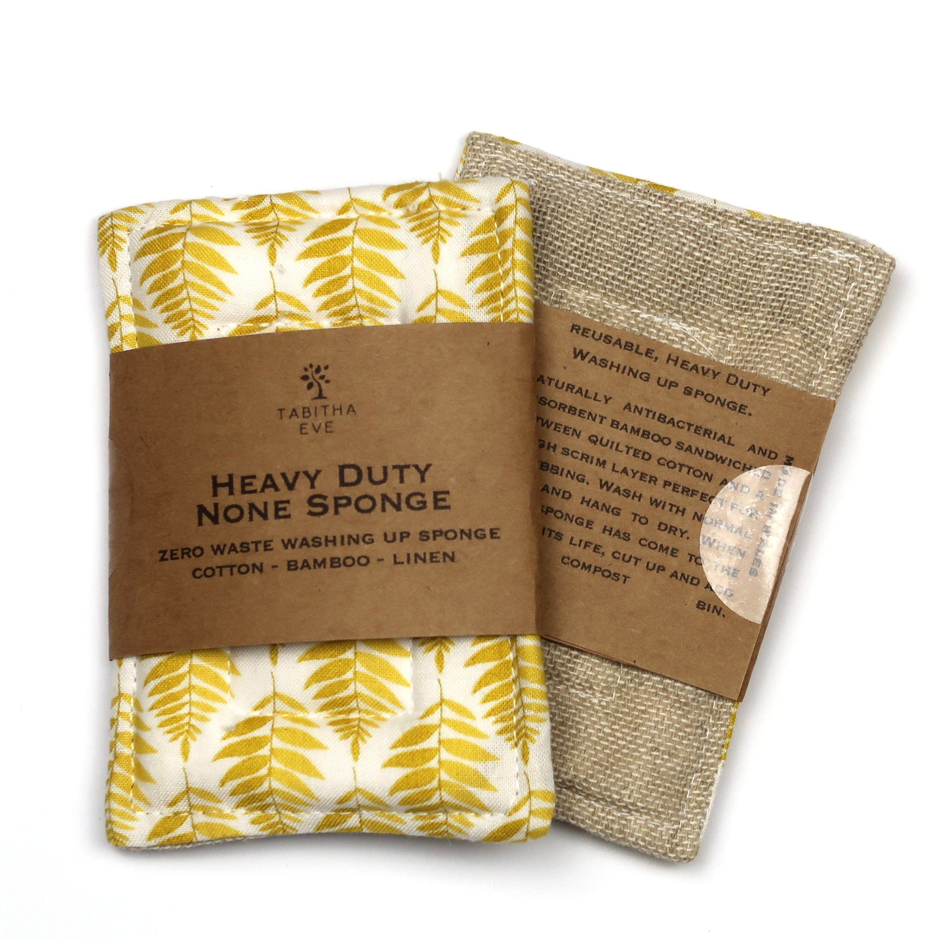 Heavy Duty None Sponge - Yellow Leaf - The Weekly Shop | Plastic Free Online Shop