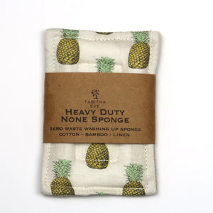 Heavy Duty None Sponge - Pineapple - The Weekly Shop | Plastic Free Online Shop