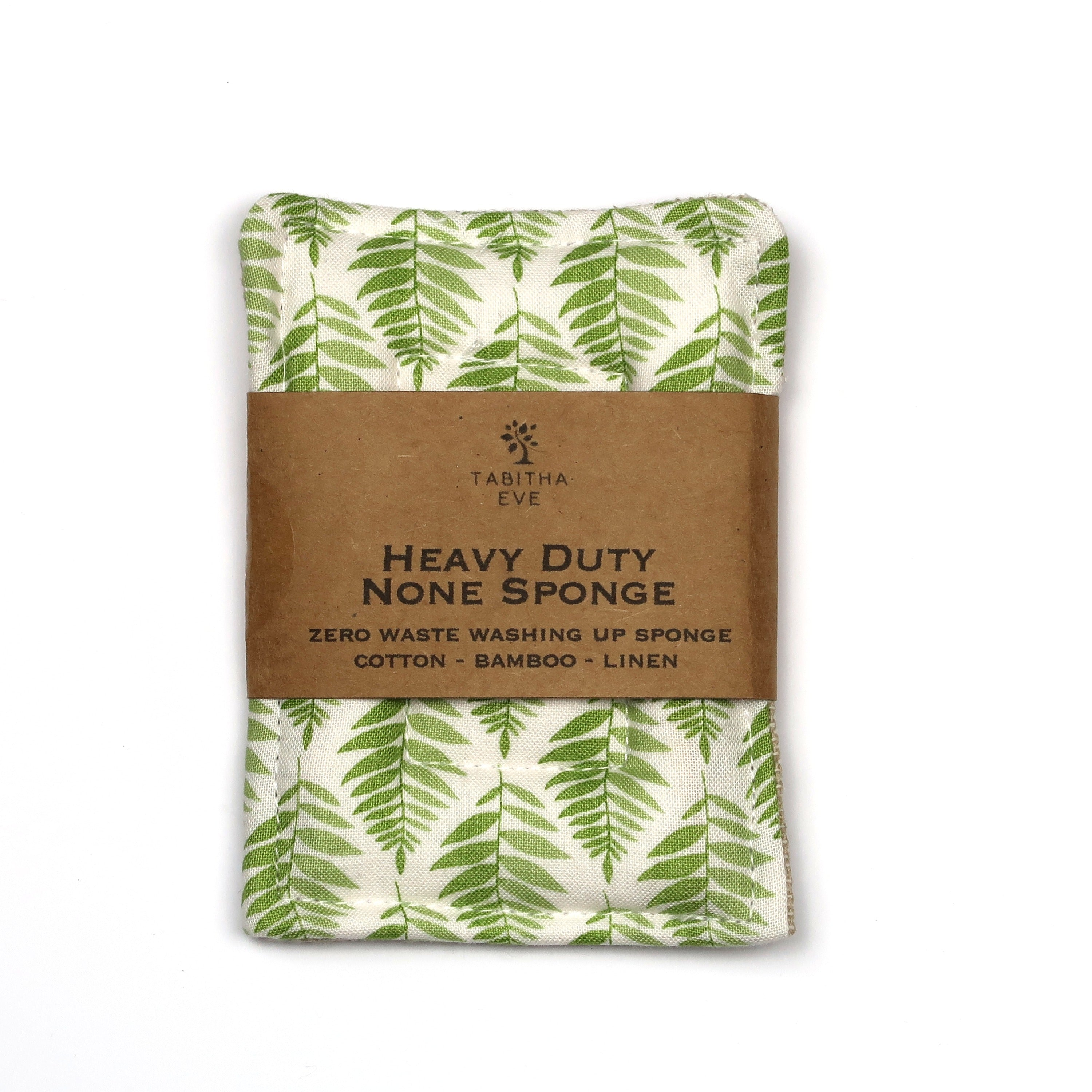 Tough None Sponge - Green Leaf - The Weekly Shop | Plastic Free Online Shop