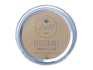 ZWP Shop Lavender and Tea Tree Deodorant Front View