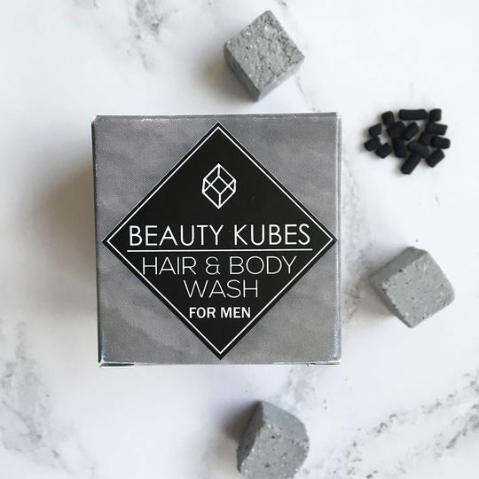 Beauty Kubes Shampoo and Body Wash for Men Box with Kubes