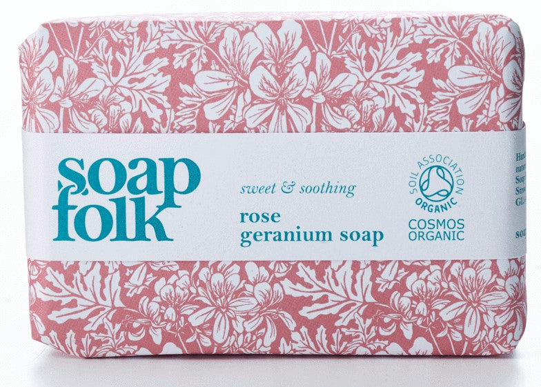 Rose Geranium Organic Soap - The Weekly Shop | Plastic Free Online Shop