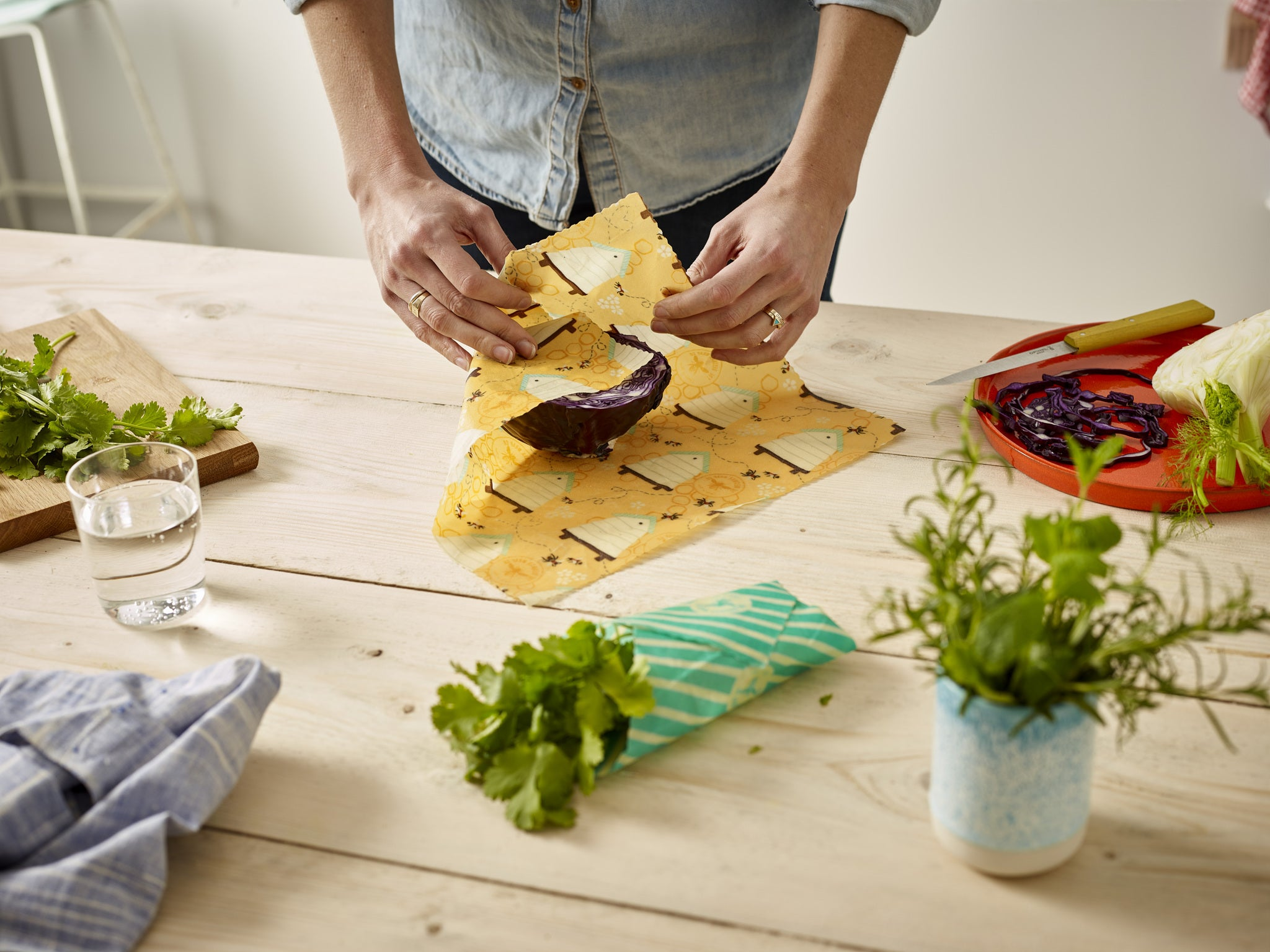 'Small Kitchen Pack' Beeswax Wraps - Bee Hive - The Weekly Shop | Plastic Free Online Shop