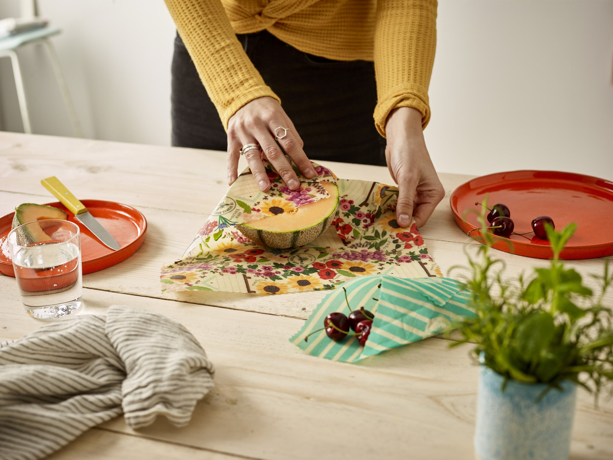 'Lunch Pack' Beeswax Wraps - Floral - The Weekly Shop | Plastic Free Online Shop