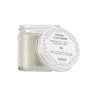Facial Clay Mask - Oily / Combination & Blemished Skin - The Weekly Shop | Plastic Free Online Shop