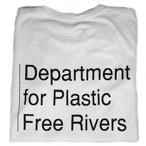 'Department of Plastic Free Rivers' T-Shirt - The Weekly Shop | Plastic Free Online Shop