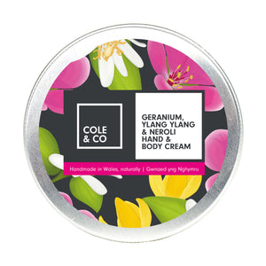Geranium, Neroli, Ylang Ylang Hand and Body Cream - The Weekly Shop | Plastic Free Online Shop